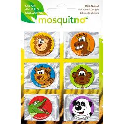 "Stickers Anti-Moustiques ""SAFARI"" ( Pack de 6 )"