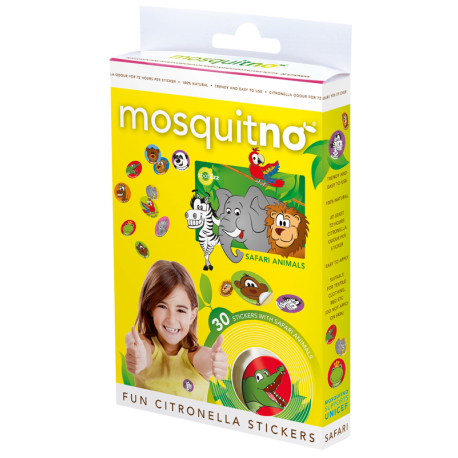 "Stickers Anti-Moustiques ""SAFARI"" ( Pack Familiale )"